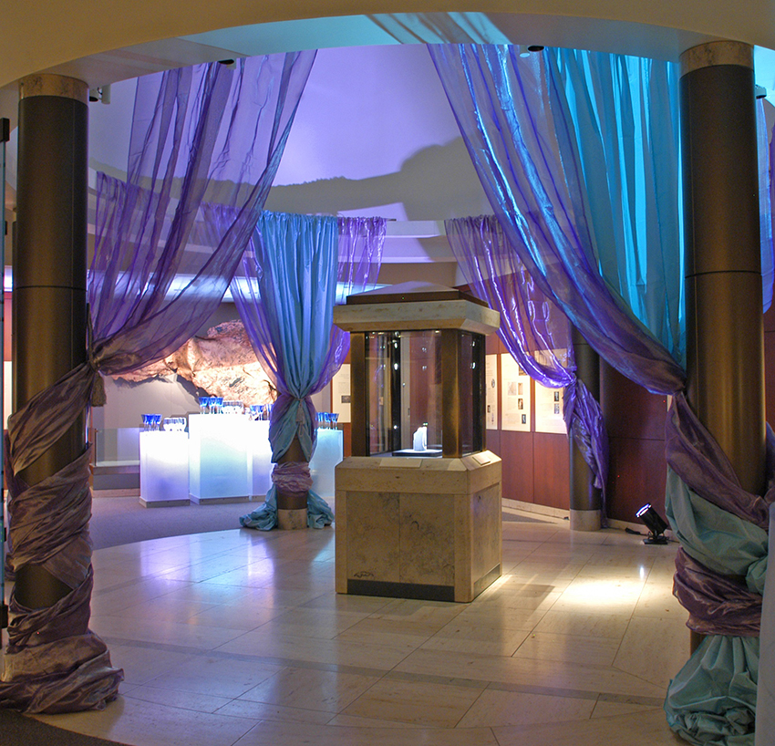 NMNH Winston gallery transformed for an event
