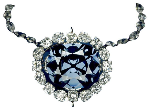 Hope Diamond on white background