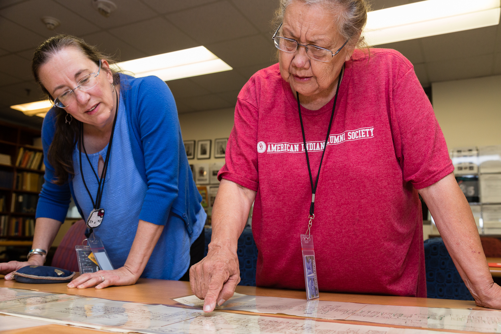 Breath of Life research partners examine historical documents