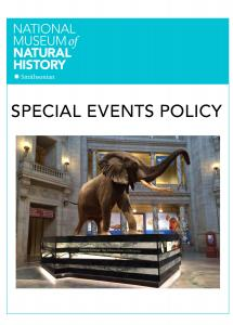 National Museum of Natural History Wordmark, Special Events, photo of Henry the African Elephant in the Rotunda